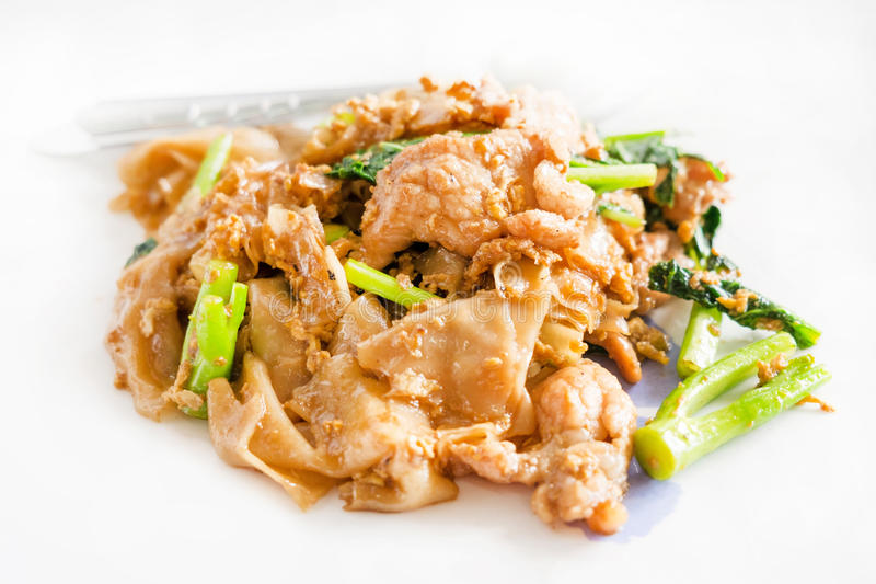 Stir fried noodle with pork royalty free stock image