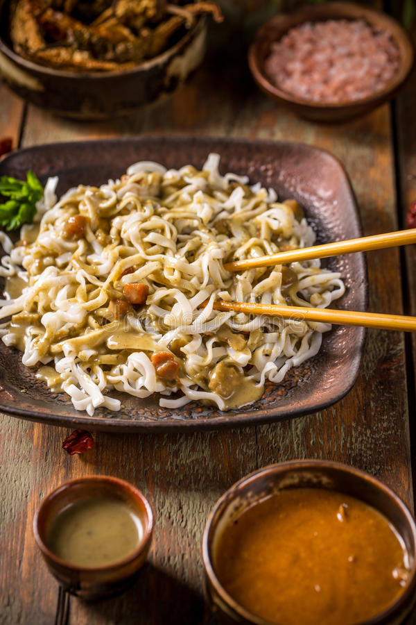 Stir fried noodle royalty free stock photo