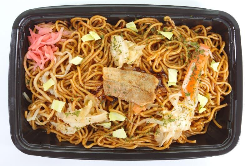 Stir fried noodle yakisoba. Japanese stir fried noodle yakisoba royalty free stock images