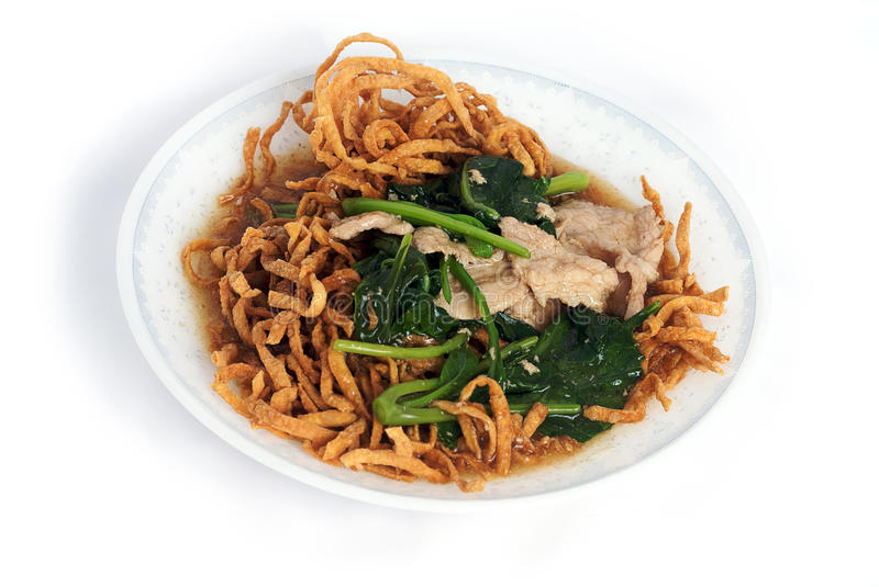 Download Stir-fried Rice Noodle With Gravy On Dish Stock Image - Image: 14829337