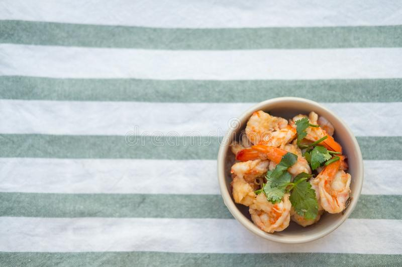 Stir fried shrimp with sweet sauce royalty free stock photography