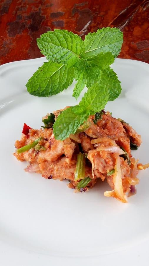 Stir fried spicy pork. Stir fried spicypork thaifood royalty free stock photos