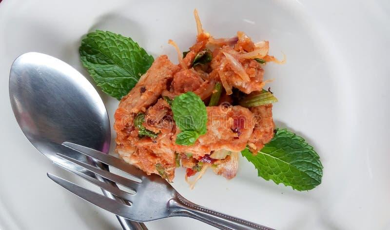 Stir fried spicy pork. Stir fried spicypork thaifood stock images