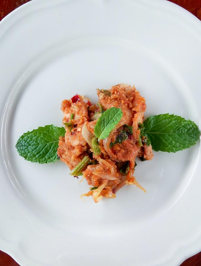 Stir fried spicy pork. Stir fried spicypork thaifood stock photography