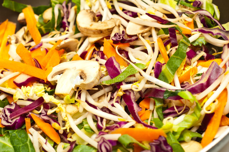Stir fried vegetables royalty free stock photo