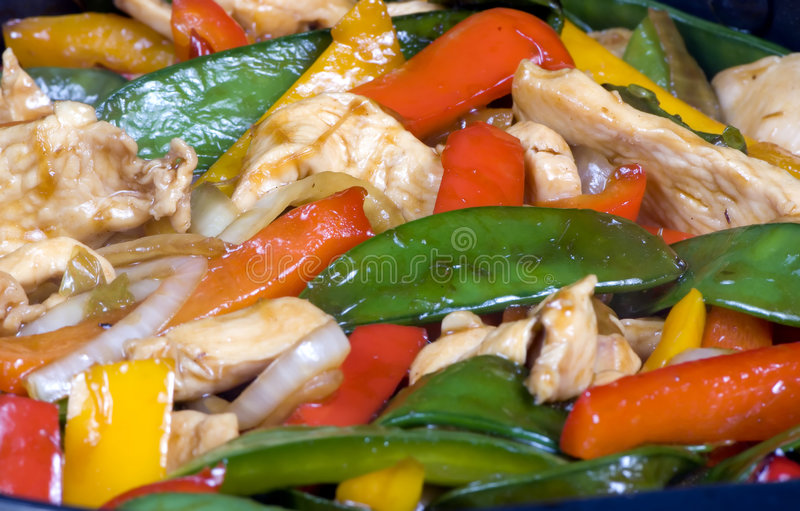 Stir Fry 2. A close up shot of chicken stir fry with lots of vegetables stock photography