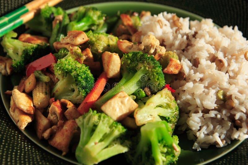 Stir Fry. Vegetarian Stir fry with chopsticks royalty free stock photography