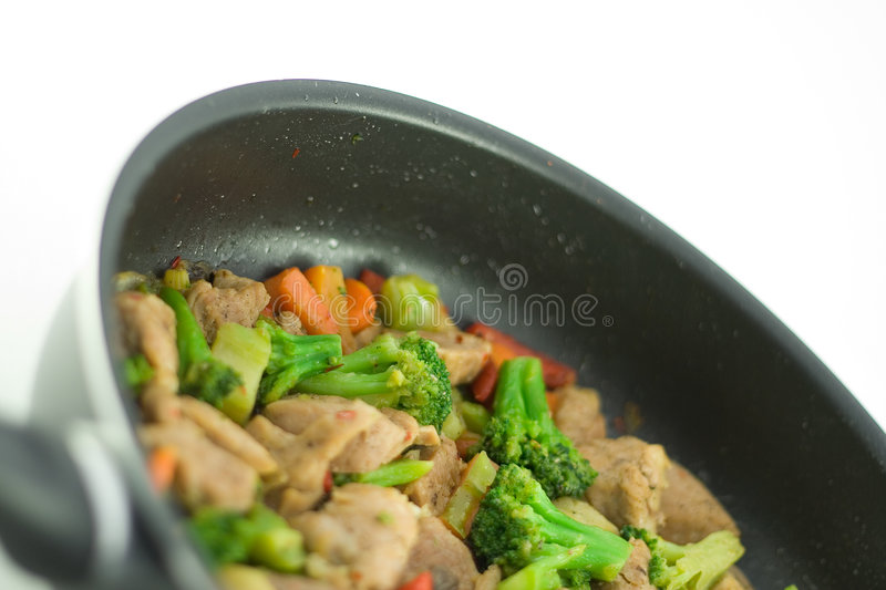Stir fry. In a pan royalty free stock photography