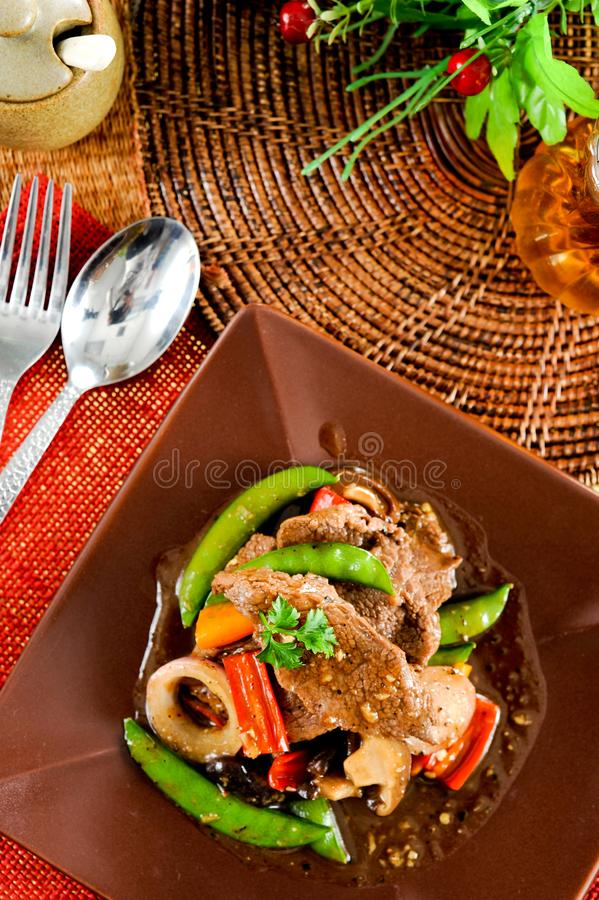 Beef stir fry. Stir-fry with beef and vegetables,Asian cuisine stock images