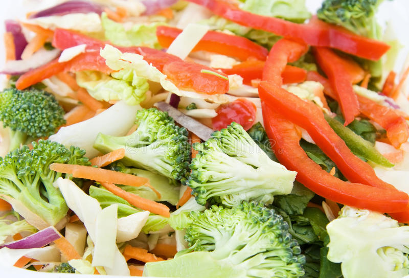 Stir fry - fresh vegetables. Healthy food - stir fry ready to cook with fresh vegetables mix royalty free stock photo