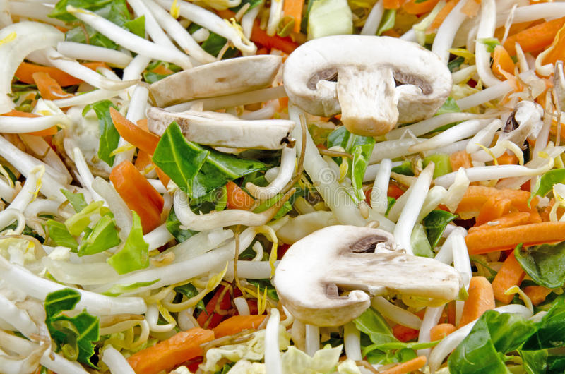 Stir Fry With Mushrooms Royalty Free Stock Images