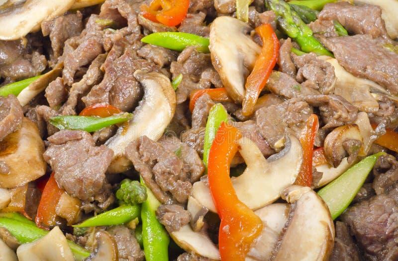 Stir-Gebratenes Rindfleisch mit Gemüse stockfoto