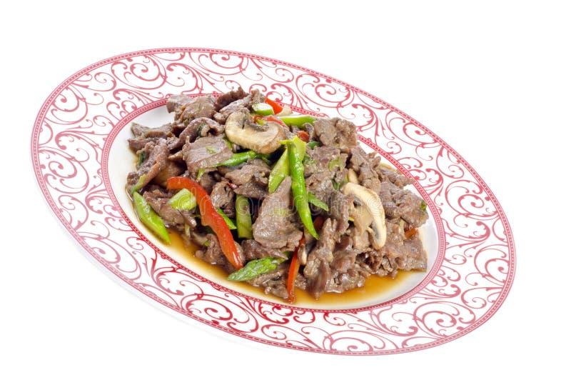 Stir-Gebratenes Rindfleisch mit Gemüse auf einer Platte #2 lizenzfreie stockfotos