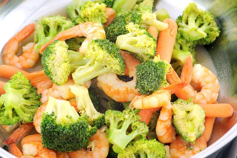 Stir stekt blandad grönsak arkivbilder