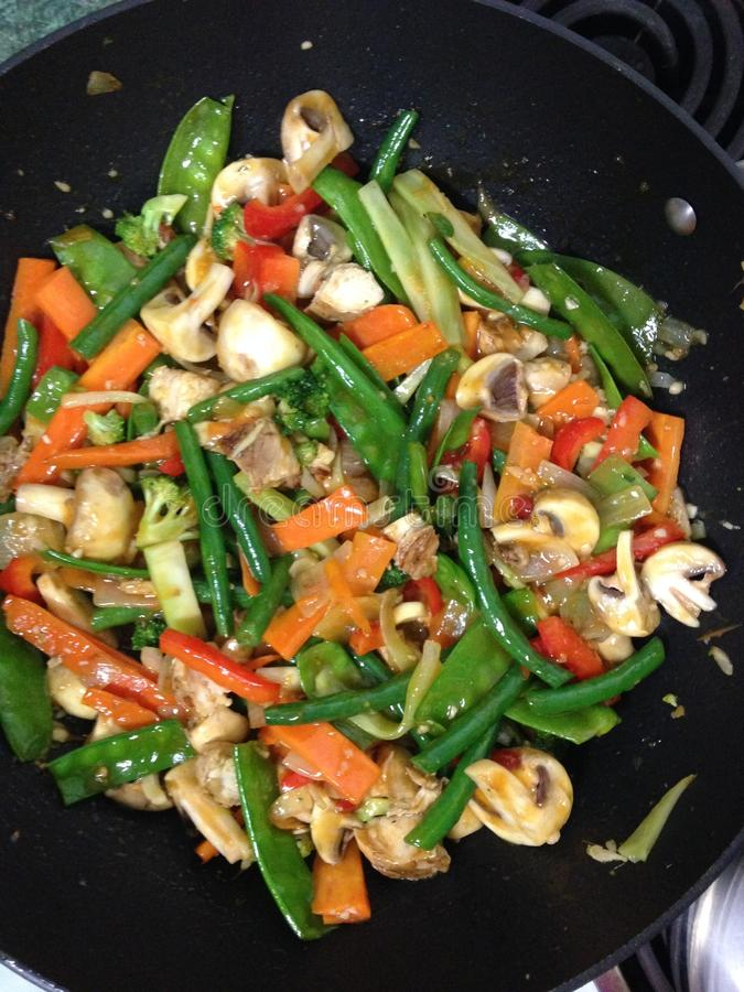 Free Stirfry Vegetables Recipe Royalty Free Stock Images - 92440639