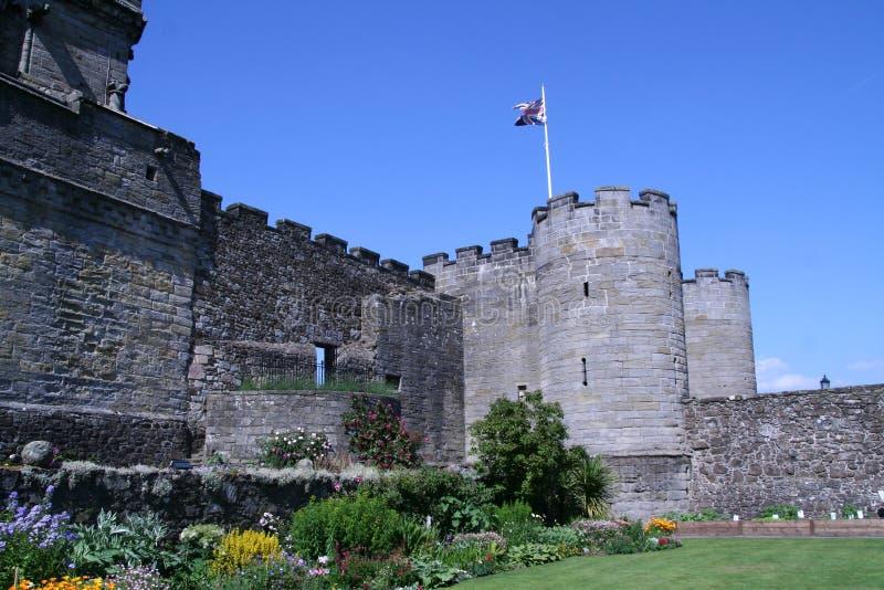 Stirling Castle, Σκωτία Λόγοι του Castle κάτω από τη κυρία είσοδος στοκ εικόνα με δικαίωμα ελεύθερης χρήσης