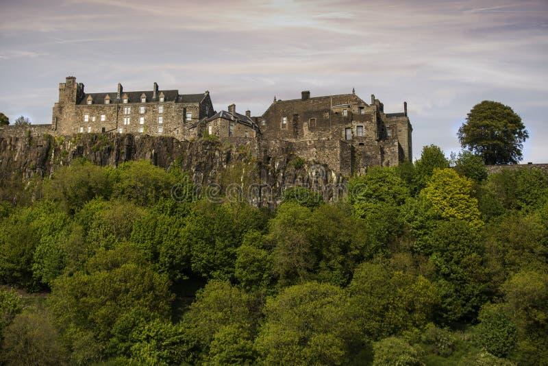 Stirling Castle bakre sikt fotografering för bildbyråer