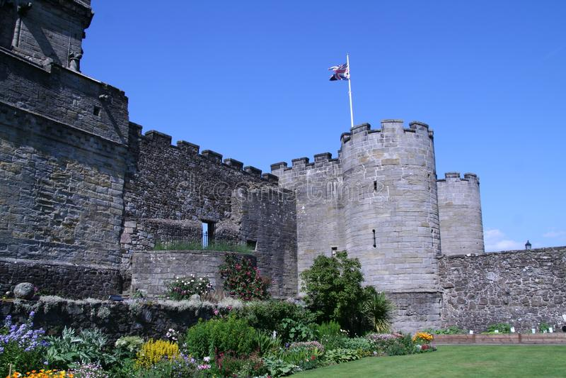 Stirling Castle, Escocia Argumentos del castillo debajo de la entrada principal imagen de archivo libre de regalías