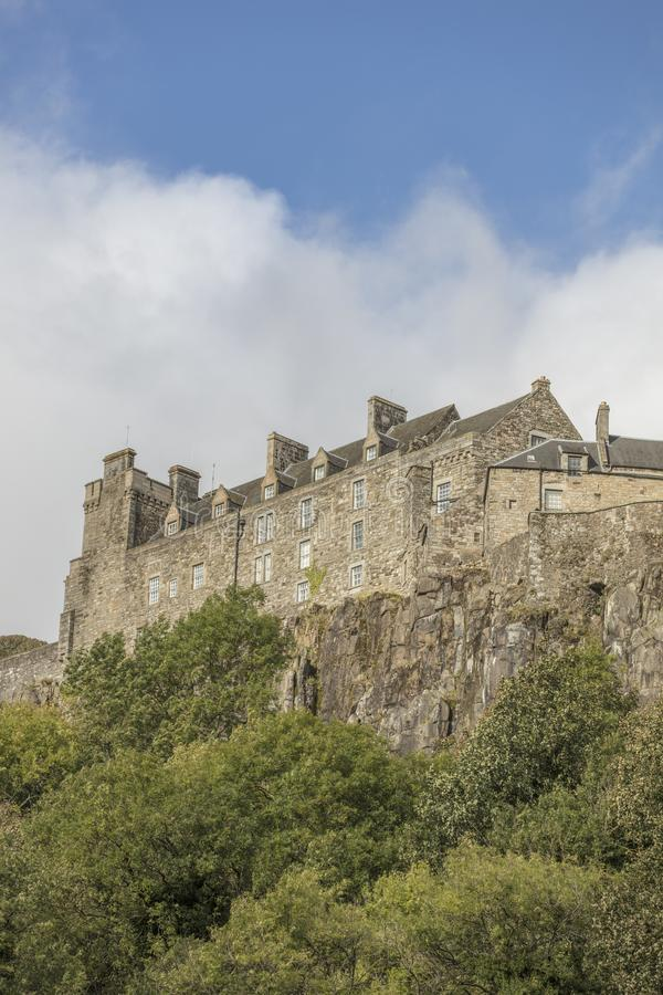 Stirling Castle. First built in the 12 th Century has Gothic, Renaissance, Scottish Revival and Baronial architecture and is a modern day tourist destination stock image