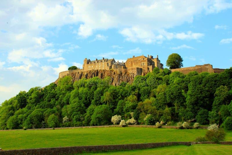 Stirling Castle on hill stock image