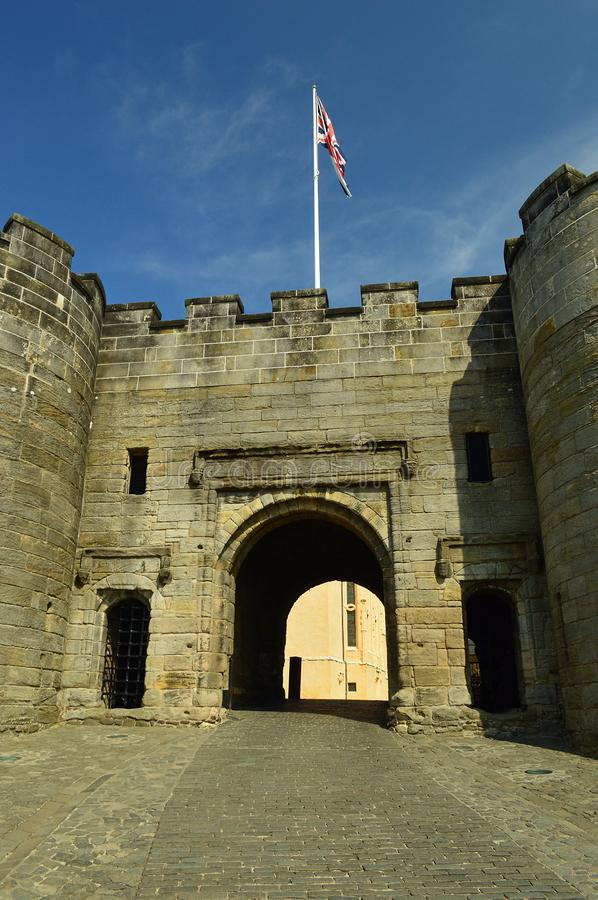 Main Gate Stirling Castle. Stirling Castle, located in Stirling, is one of the largest and most important castles in Scotland, both historically and royalty free stock photo