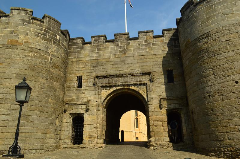 Main Gate Stirling Castle. Stirling Castle, located in Stirling, is one of the largest and most important castles in Scotland, both historically and royalty free stock photos