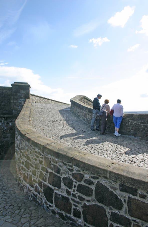 Stirling grodowi turystów zdjęcia royalty free