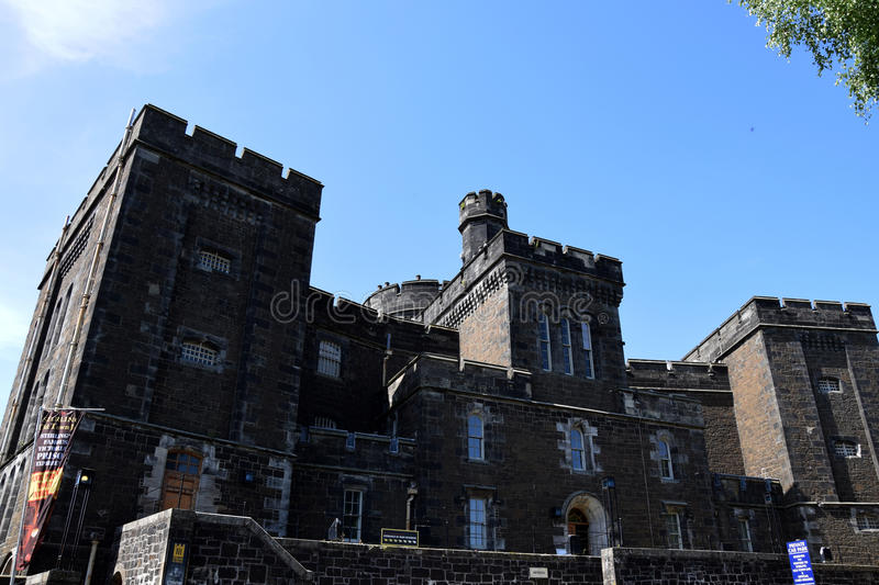 Stirling Old Town Jail. Was built in 1847 when the old Tolbooth Jail became too overcrowded and was rated as the worst prison in Britain. Although living stock photography
