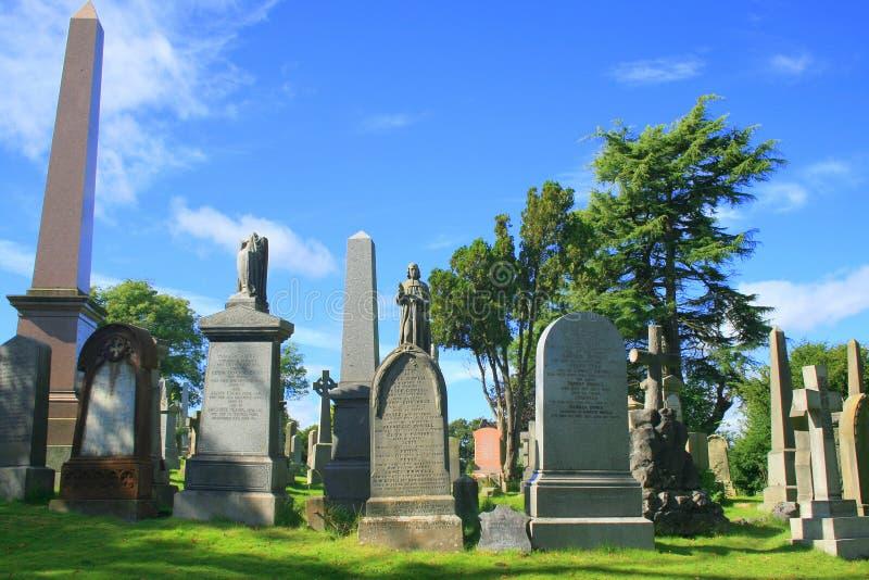 Stirling-Schloss-Friedhof stockfotos