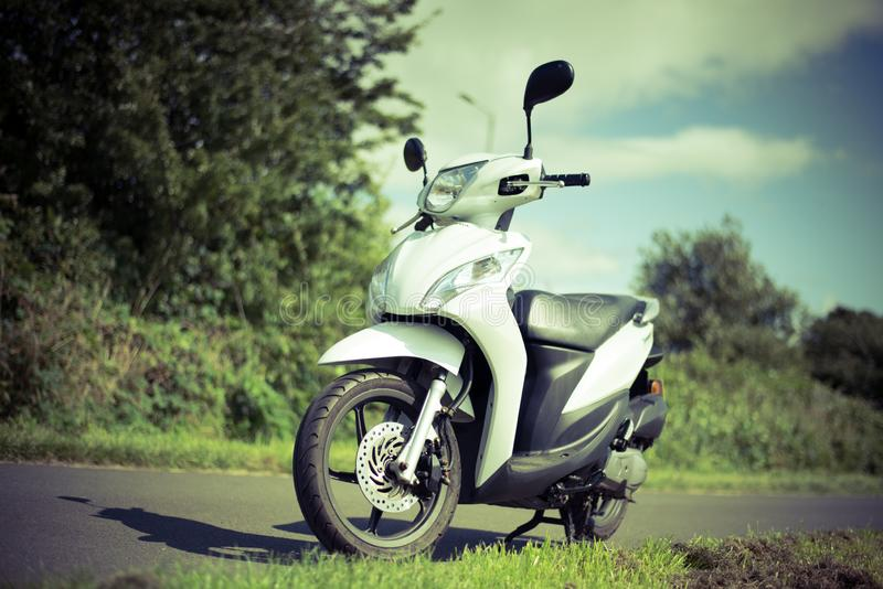 Stirling, Scotland - 15 August 2019: Honda Vision 49 cc scooter stock images