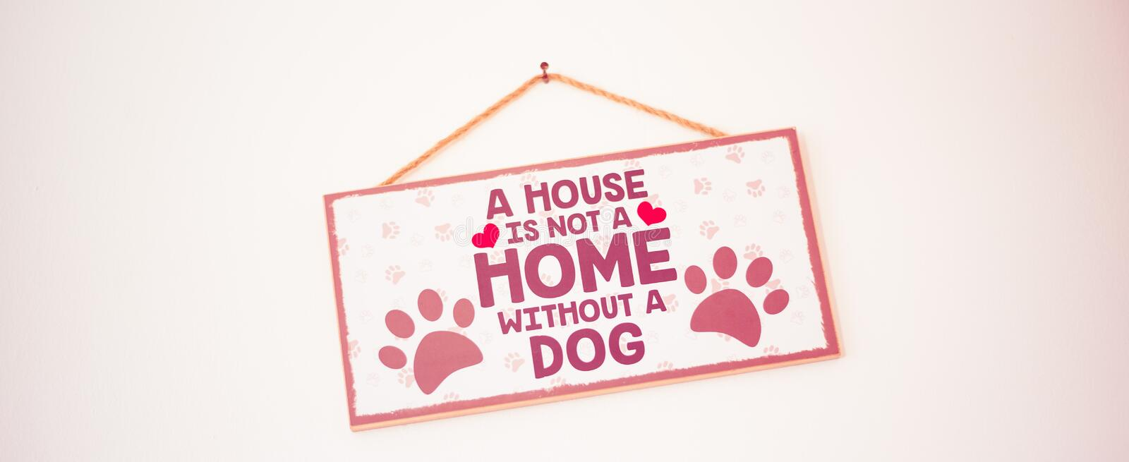 Stirling/Scotland - 7 July 2019: A house is not a home without a dog royalty free stock photos