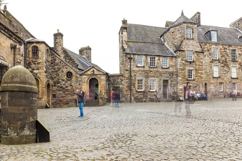 Stirling slott i sommar, Skottland arkivfoto