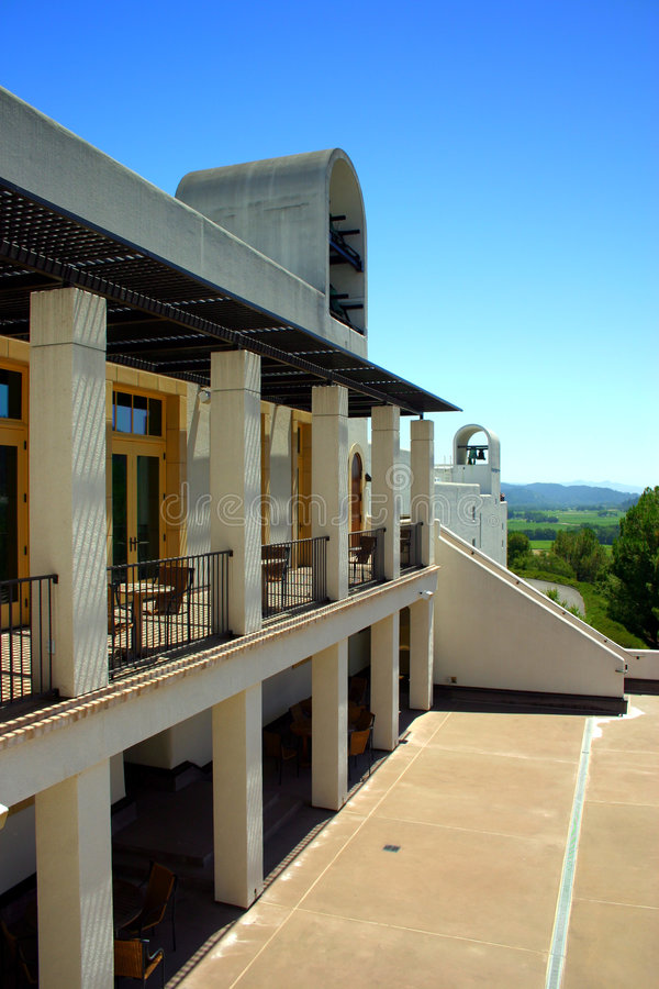 Stirling Vineyard, Sonoma and Napa Valley, California royalty free stock photo