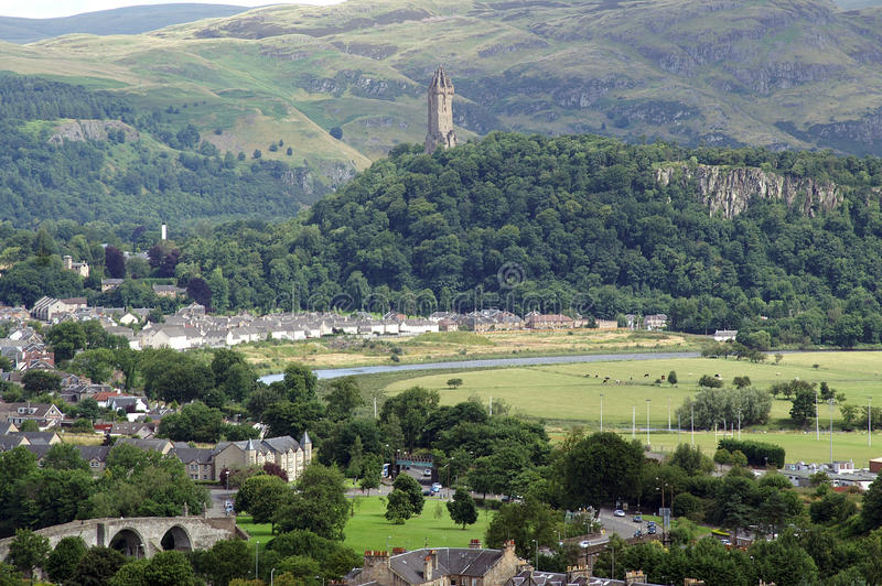 Stirling, Wallace Monument image stock