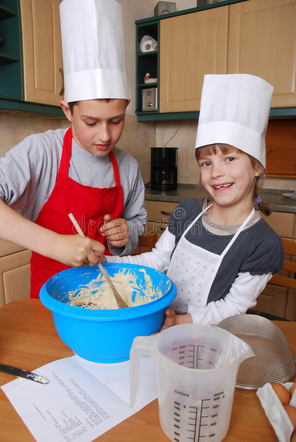 Download Stirring the batter stock photo. Image of happy, kids - 15869468
