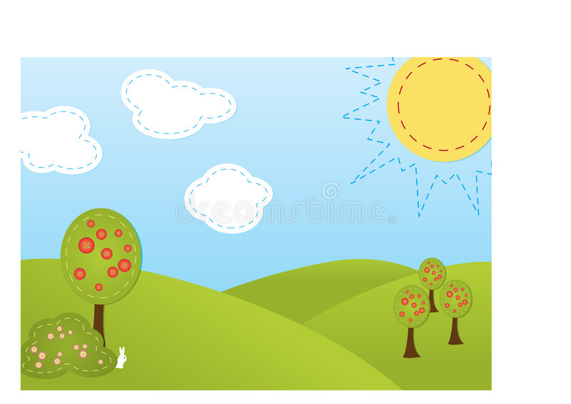 Download Stitch - trees stock vector. Illustration of green, environment - 6056357