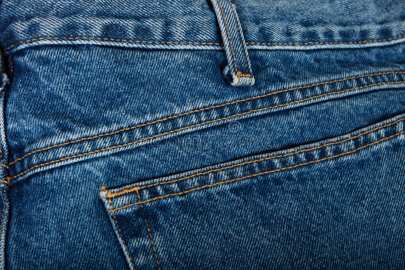 Download Stitched Blue Jeans stock image. Image of fashion, blue - 12328927
