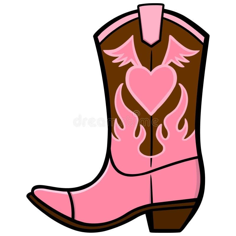 Stivale del cowgirl royalty illustrazione gratis