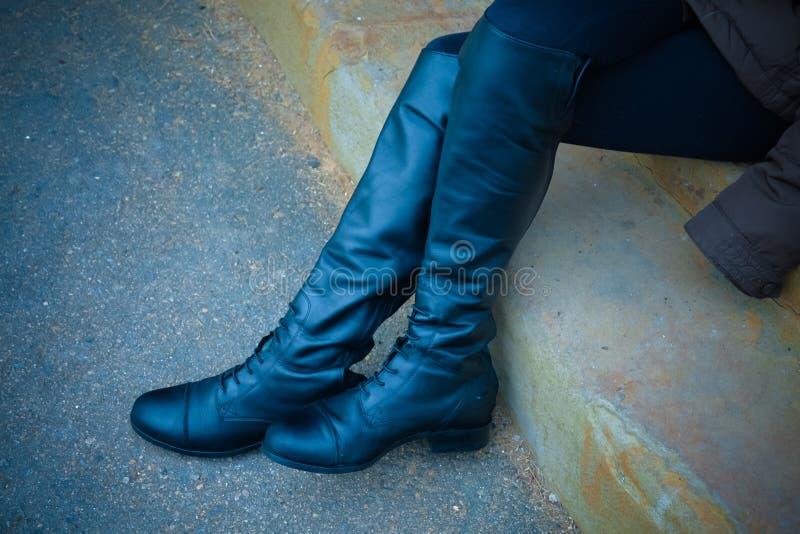Stivali da equitazione alti immagini stock