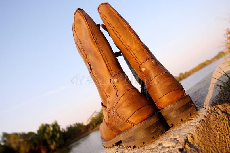 Stivali degli uomini fotografia stock libera da diritti