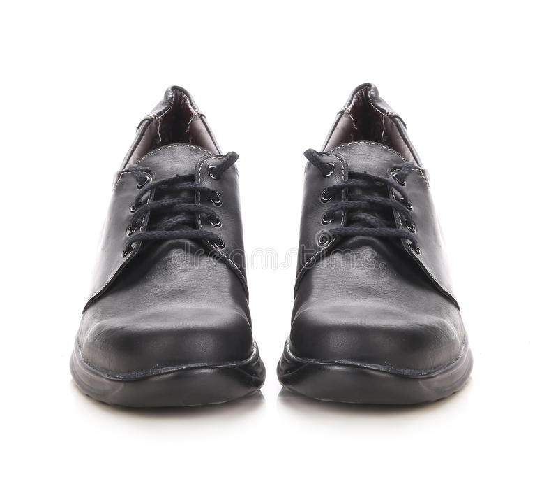 Stivali del nero di inverno di sport. fotografia stock libera da diritti