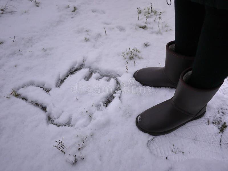 Stivali del ugg delle donne Dettagli, primo piano, tempo di inverno e stivali caldi immagine stock