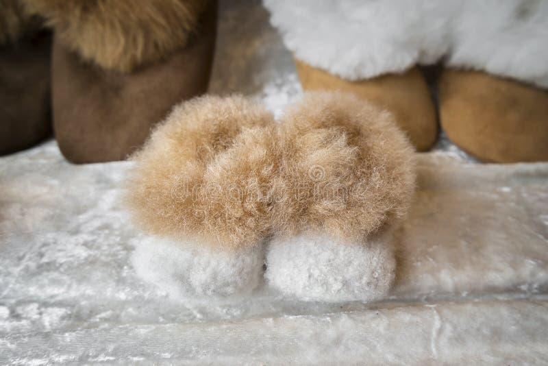 Stivali di inverno dei bambini fotografia stock