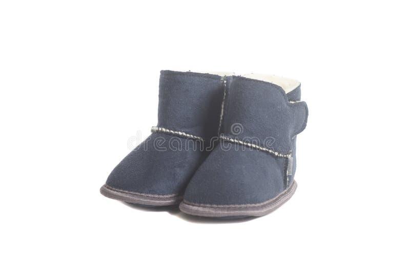 Stivali di inverno dei bambini immagine stock libera da diritti