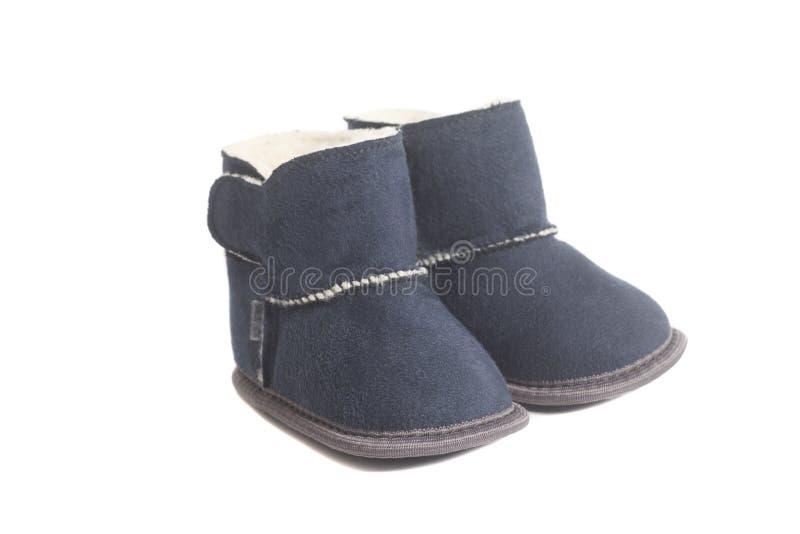 Stivali di inverno dei bambini immagini stock