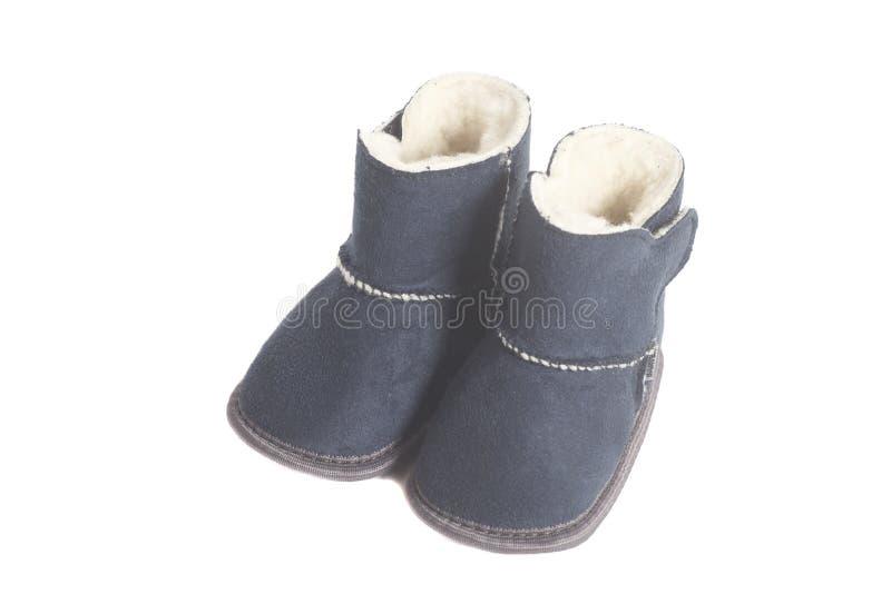 Stivali di inverno dei bambini fotografia stock libera da diritti