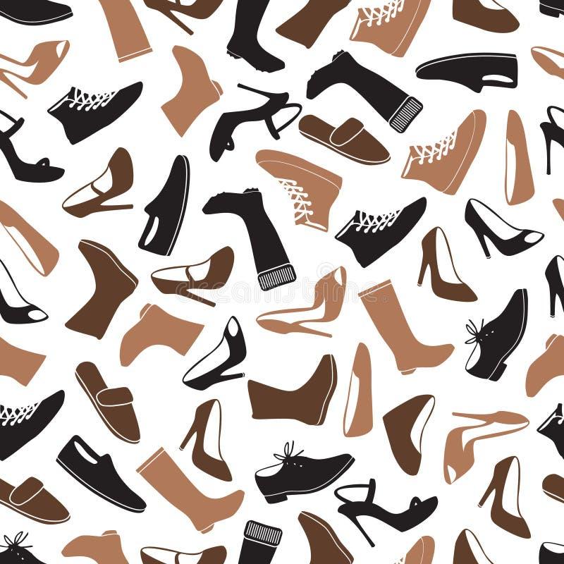 Stivali e modello senza cuciture eps10 di colore delle scarpe illustrazione di stock