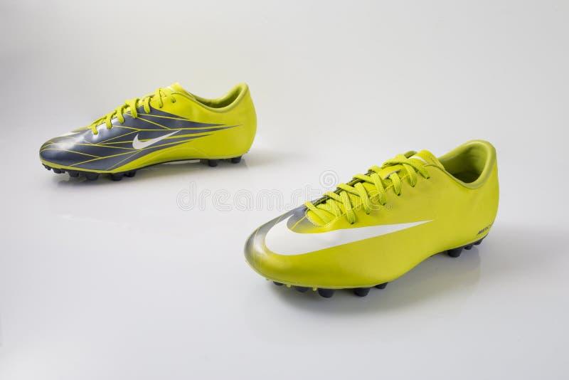 Stivali Nike Soccer fotografia stock libera da diritti