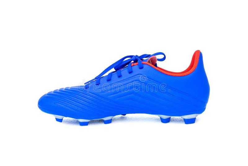 Stivali PREDATORI di calcio di Adidas su bianco fotografia stock libera da diritti