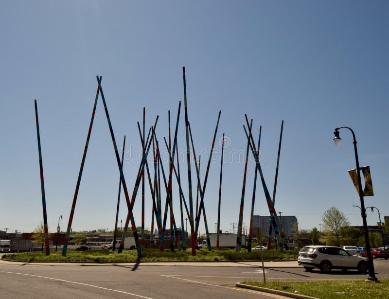 Stix sztuki struktura w śródmieściu, Nashville, TN zdjęcia stock
